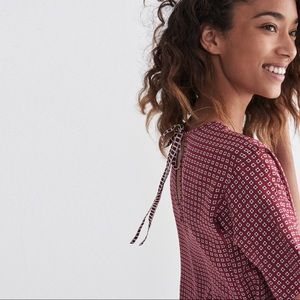 Madewell • Silk Bow Back Tee in Ascot Tile